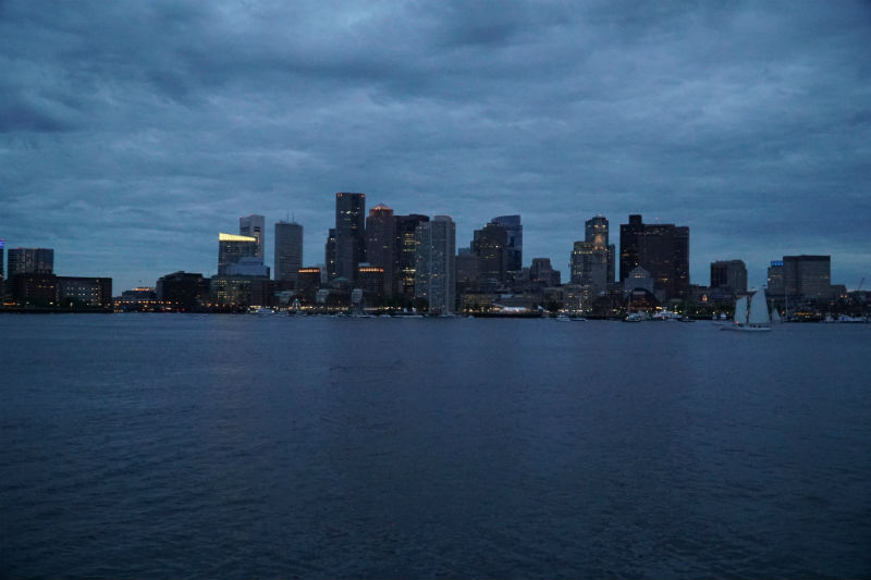 boston city skyline with high iso setting