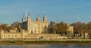 tower of london in the sun