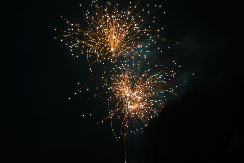 firework exploding in the sky at night