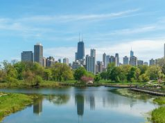 chicago skyline from lincoln park